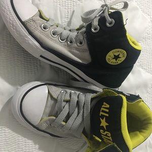 Converse Boys or Girls 2 US Yellow Grey Black